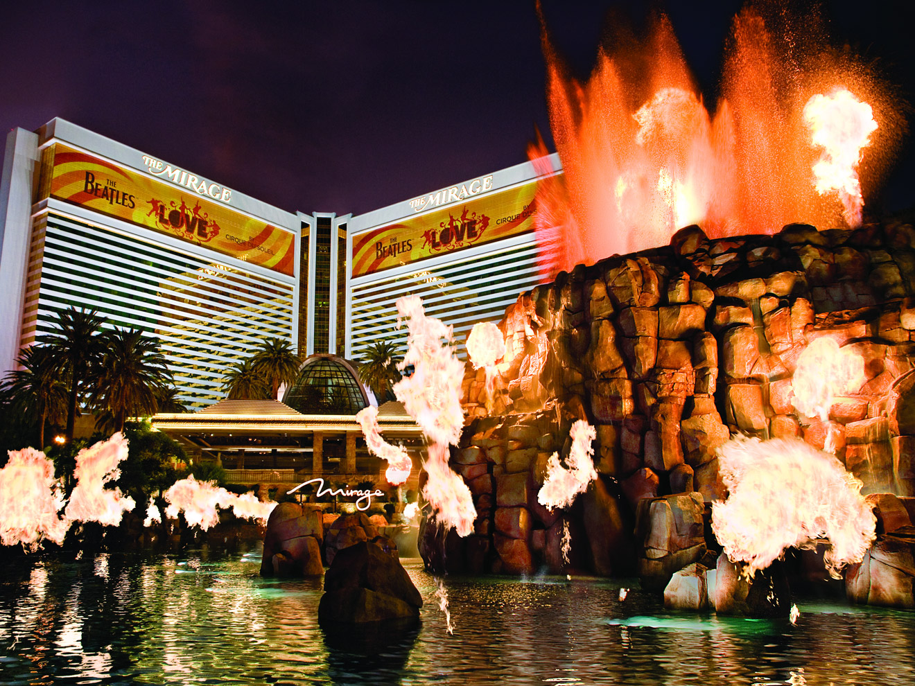 The Mirage Hotel Volcano Show
