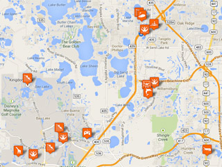 Map Of Orlando Theme Parks Orlando Theme Parks Map | Family Vacation Hub Map Of Orlando Theme Parks