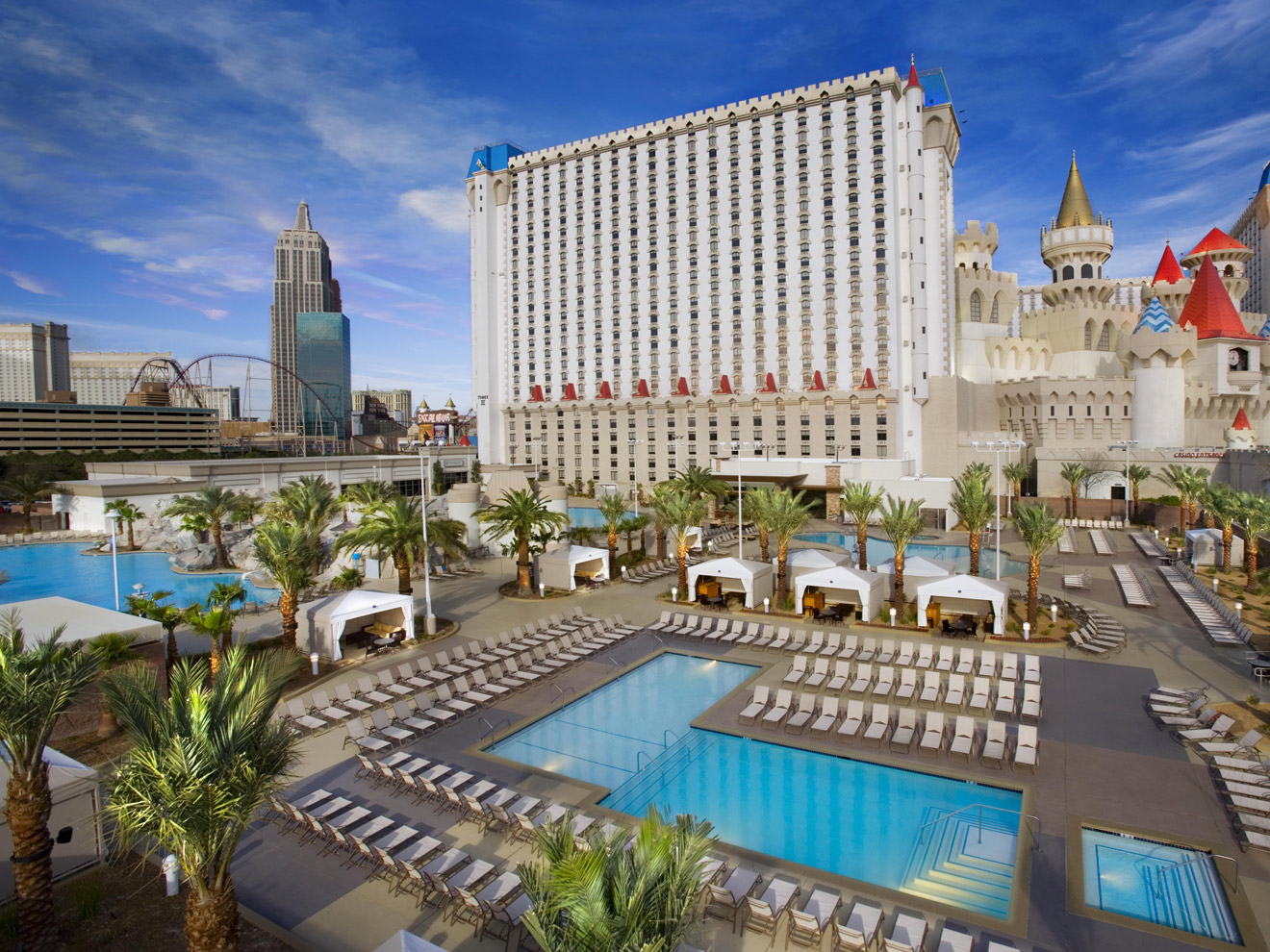 Pools Of The Excalibur Hotel Las Vegas