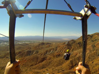 POV of Bootleg Canyon Zipline #3 Run
